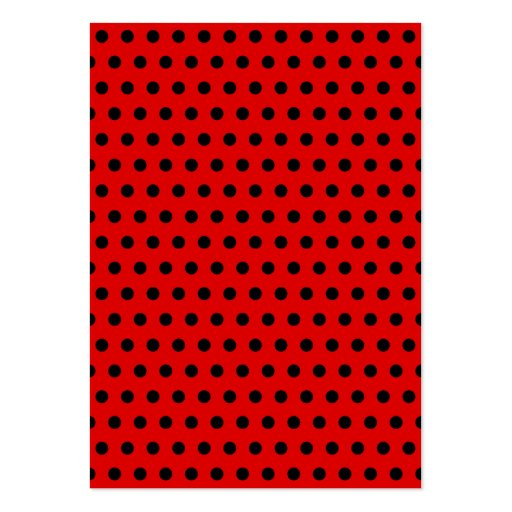 Red and Black Polka Dot Pattern. Spotty. Large Business Card