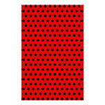 Red and Black Polka Dot Pattern. Spotty. Stationery Paper