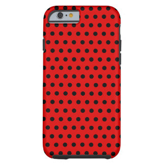 Red and Black Polka Dot Pattern. Spotty. Tough iPhone 6 Case