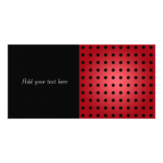 Red and Black Polka Dots Card