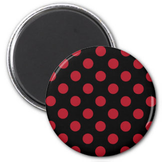 Red and black polka dots magnet