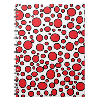 Red and Black Polka Dots Notebook