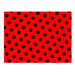 Red and Black Polka Dots Post Card