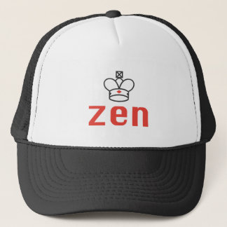 RED AND BLACK QUEEN ZEN MEDITATION AND INTUITION TRUCKER HAT