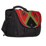 Red And Black Railroad Crossing Sign Bag Computer Bag