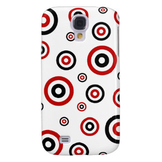 Red and Black Retro circle pattern Galaxy S4 Cover