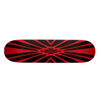 RED AND BLACK RETRO SKATE BOARD DECKS