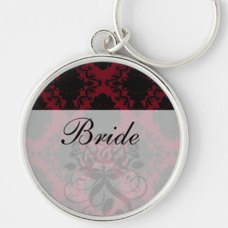 red and black romance diamond damask key chains
