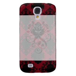 red and black romance diamond damask samsung s4 case