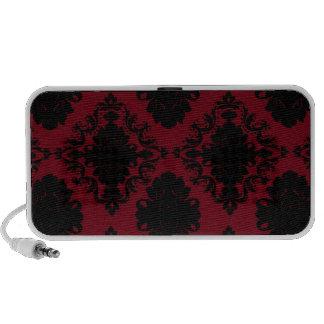 red and black romance diamond damask speaker system