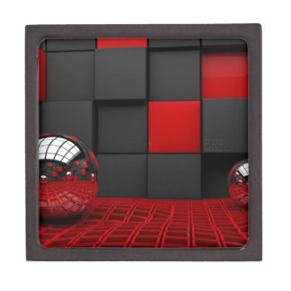 Red and Black Room Gift Box