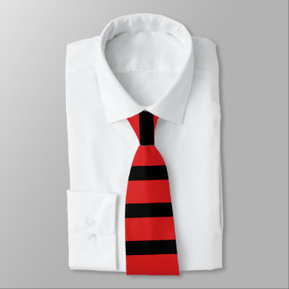 Red and Black Rugby Stripe Tie