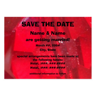 Red and Black Save The Date Cards Large Business Cards (Pack Of 100)