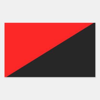 red and black self-organized labor flag sticker