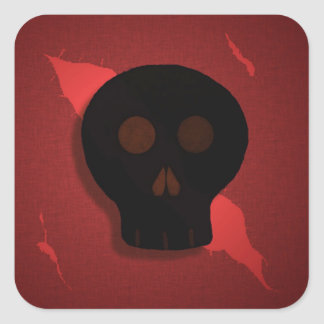 Red and Black Skull Stickers