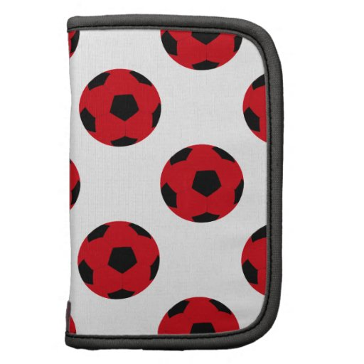 Red and Black Soccer Ball Pattern Organizer