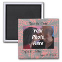 Red and Black Spiderweb Theme Photo Save the Date! Magnets