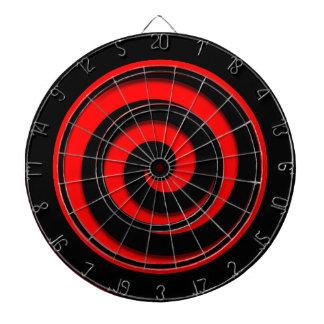 Red and Black Spiral Hypnotic Regulation Dart Boards