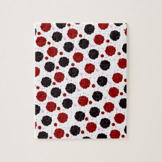 Red and Black Splash Dots Puzzle