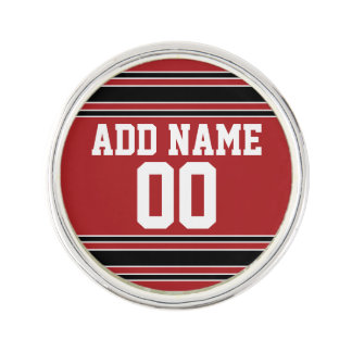 Red and Black Sports Jersey Custom Name Number