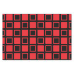 Red and Black Squares Tissue Paper