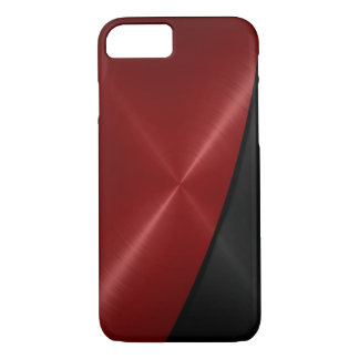 Red and Black Stainless Steel Metal iPhone 7 Case