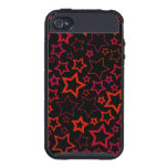 Red and Black Stars Case For iPhone 4