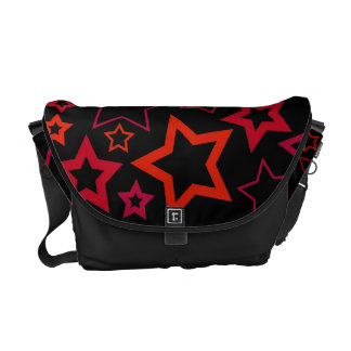 Red and Black Stars Courier Bags