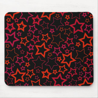 Red and Black Stars Mouse Pad