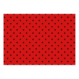 Red and Black Stars Pattern. Large Business Cards (Pack Of 100)