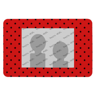 Red and Black Stars Pattern. Magnet