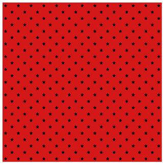 Red and Black Stars Pattern. Photo Cutouts