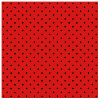 Red and Black Stars Pattern. Statuette