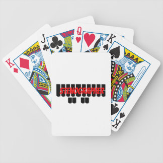 Red and Black Stenographer Steno Machine Keys Bicycle Playing Cards