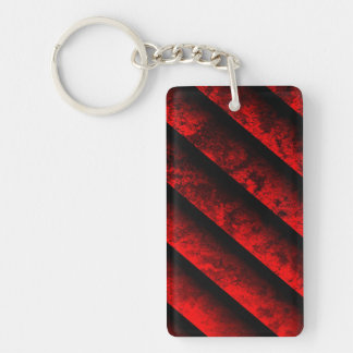 Red and Black Striped Keychain