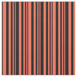 [ Thumbnail: Red and Black Striped Pattern Fabric ]