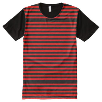 Red and black stripes All-Over-Print shirt