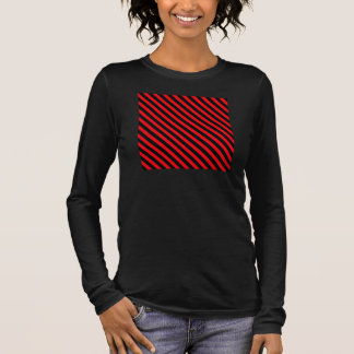 Red and Black Stripes Long Sleeve T-Shirt