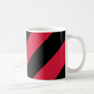Red and Black Stripes Coffee Mug