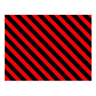 Red and Black Stripes Postcard