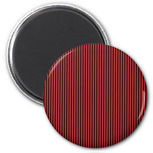 Red and Black Stripes Refrigerator Magnet