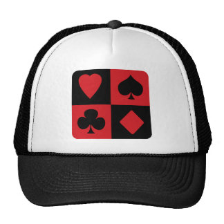 Red and Black Suit Design Trucker Hat
