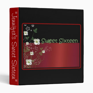 Red and Black, Sweet Sixteen Photo Album 3 Ring Binder