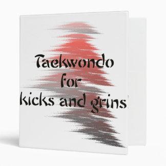Red and Black Taekwondo Kick and Grins Binder