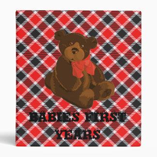 Red And Black Tartan Babies first years binder