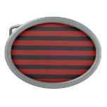Red and Black Thick Striped Layer Pattern Belt Buckles