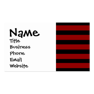 Red and Black Thick Striped Layer Pattern Business Card