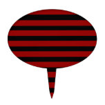 Red and Black Thick Striped Layer Pattern Cake Toppers