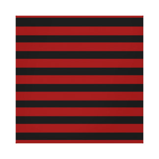 Red and Black Thick Striped Layer Pattern Canvas Print