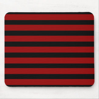 Red and Black Thick Striped Layer Pattern Mouse Pad